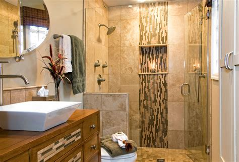 waterfall shower designs waterfall tiled bathroom