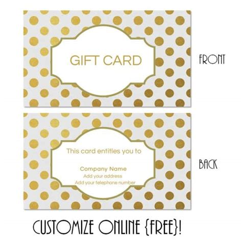 Customizable Gift Card Template by Gift Card Template