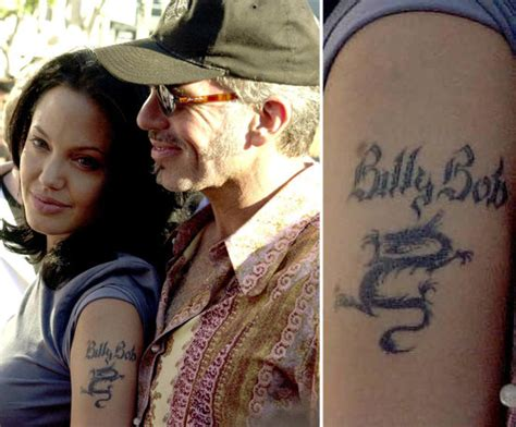 angelina jolie billy bob tattoo photos of who tattoos popsugar