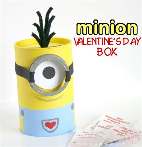 how to make a minion valentines day box minion s day box the scrap shoppe