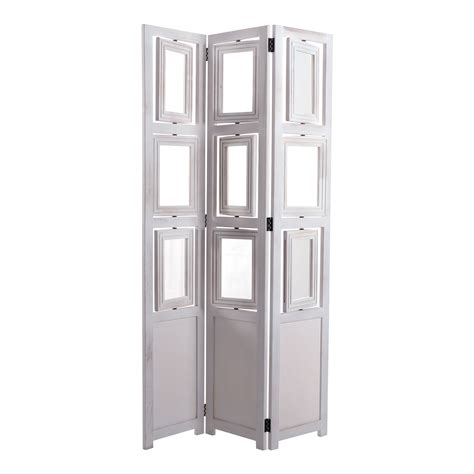 White Room Divider Picture Frame Paravent Quot Corsica Quot 63x37 Quot White Room Divider 163 125 00 Picclick Uk
