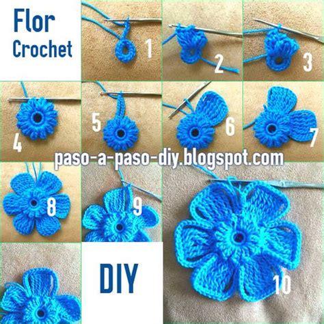 imagenes de flores tejidas a gancho como se teje flor con ganchillo crochet flores