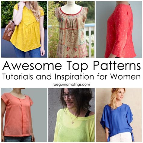 Free Sewing Patterns For Womens Tops Image collections - origami ...