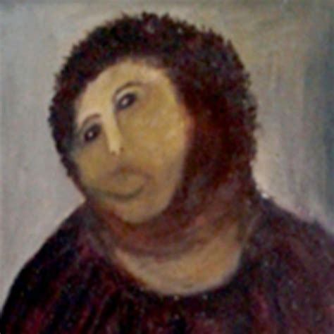 Ecce Homo Meme - botched ecce homo painting know your meme