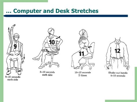 Computer Desk Stretches Health Tips Benefits Exercise For Computer Users