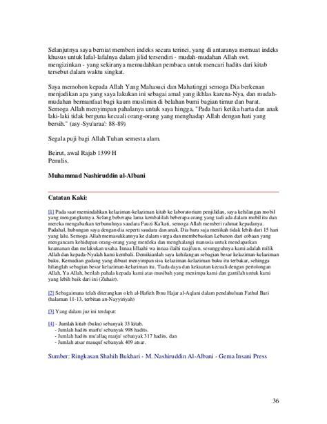 Indeks Hadits Hadits Shahih Imam Bukhari