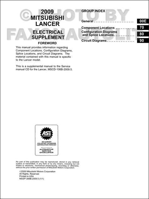 2010 mitsubishi lancer wiring diagram wiring diagram