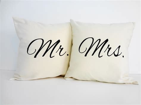 Mr And Mrs Decorative Pillows mr and mrs throw pillow covers wedding gift accent