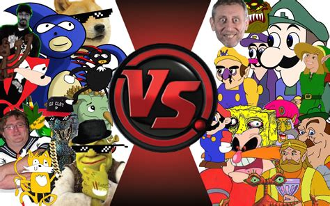 fight club illuminati mlg vs total war sanic vs weegee 2