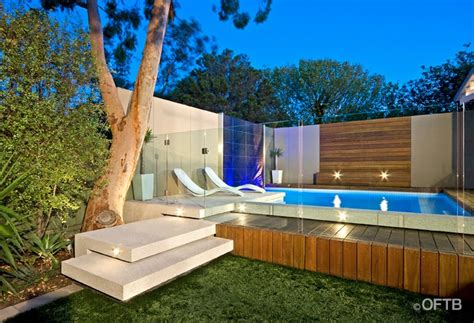 Outdoor Entertaining Area Ideas - oftb melbourne landscaping pool design amp construction project plunge pool water feature wall