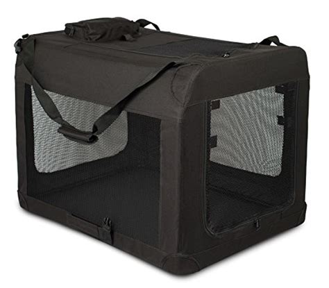 backyard pet soft pet home internet s best soft sided dog crate large 32 inches mesh kennel indoor