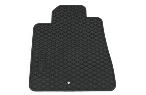 2014 acadia denali floor mats front premium all weather gmc logo ebo shopgmcparts com
