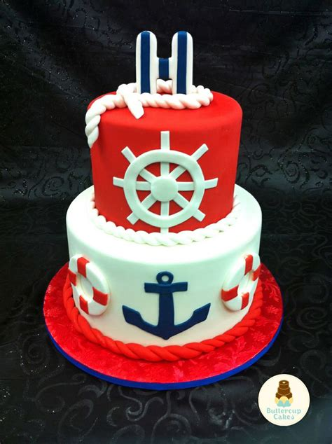 Nautical Bridal Shower Cakes nautical themed bridal shower cake diana s wedding