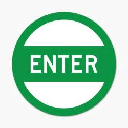 to enter enter green circle sticker genius
