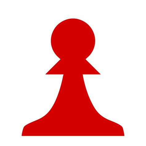 chess clipart clipart chess silhouette pawn pe 243 n rojo