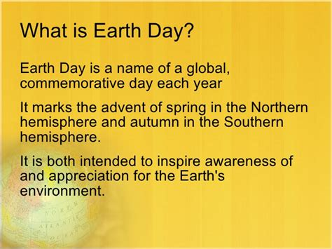 what is day free earth day powerpoint presentation template