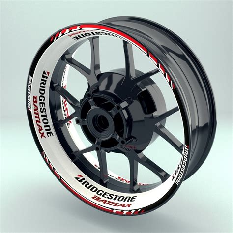 Motorrad Wheel Sticker by Rim Sticker Stripes Decal Wheelsticker Quot Bridgestone Battlax 1 Quot