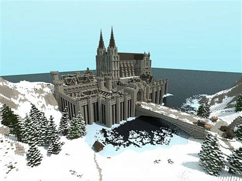 minecraft boat bridge winterbleak world of targur castle minecraft building inc