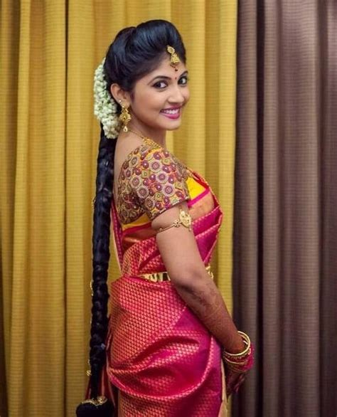 simple hairstyles at home in tamil best latest saree blouse designs catalogue for silk sarees
