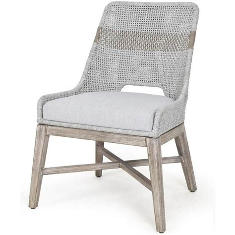 efl wtapumng tapestry dining chair  taupe white