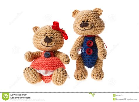 tiny knitted toys tiny knitted toys stock image image 23186731