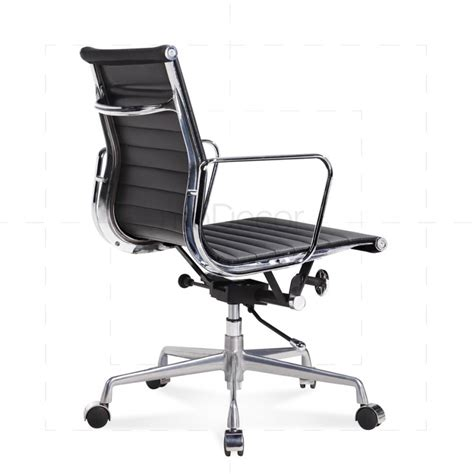 Black Leather Office Chair by Eames Black Leather Office Chair Modecor Furnitures