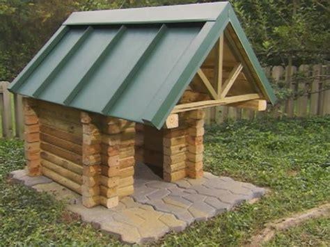 build  log cabin doghouse  tos diy