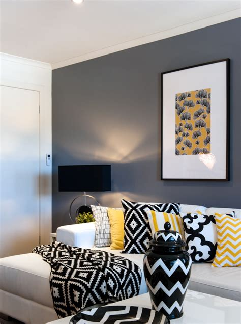 Black White And Yellow Living Room - a look at cathy elsmore s black yellow and white living