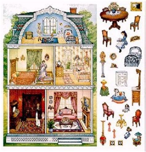 doll house stickers victorian dollhouse sticker print x pinterest