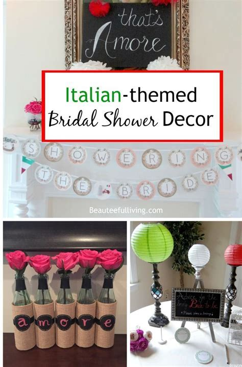 Italian Themed Bridal Shower Decor   Italy Themed Bridal