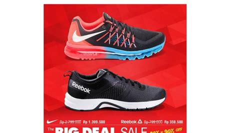 Sepatu Sport Station Nike sport station gelar promo the big deal sale diskon 20 90
