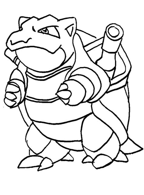pokemon blastoise coloring pages sketch coloring page