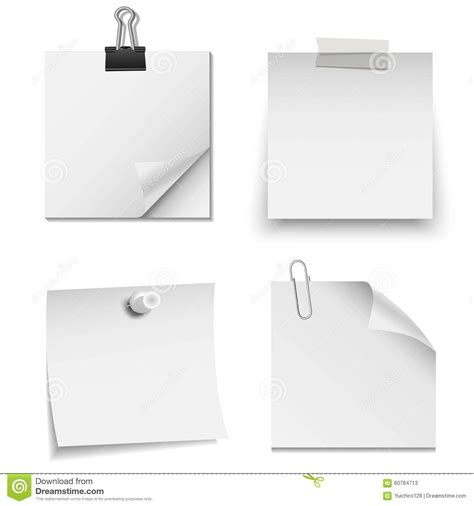 paper clip and pin set royalty free illustration