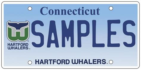 Connecticut Dmv Vanity Plates by The Day State Unveils License Plate For Hartford Whalers