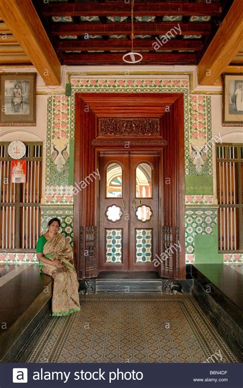 nattukottai chettiar house  chettinad tamil nadu stock photo  alamy
