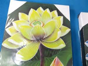 Lotus Flower Canvas 6 Pcs Wholesale Lotus Flower Balinese Painting On