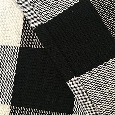 Black And White Checkered Kitchen Rug Ustide 100 Cotton Rugs Black White Checkered Plaid Rug For Kitchen Bathroom Entry Way