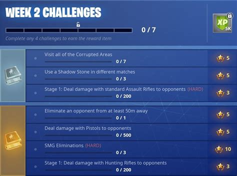 fortnite week 2 challenges official fortnite season 6 week 2 challenges fortnite intel