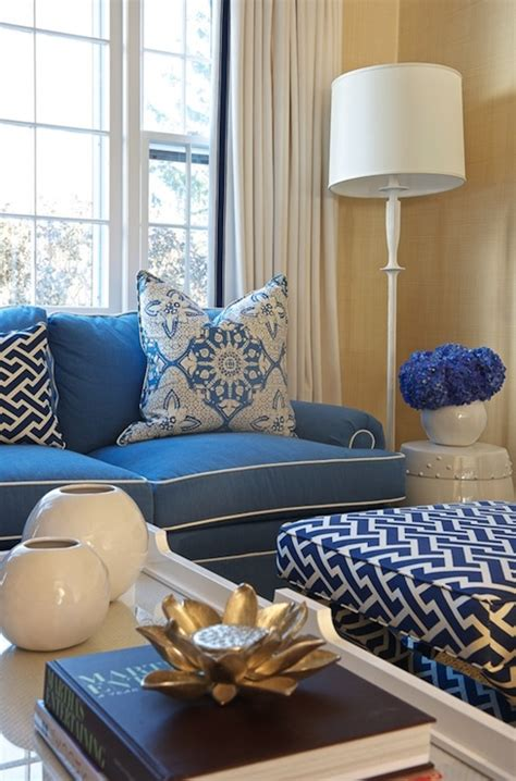 blue and white couch navy sofa with white piping design ideas