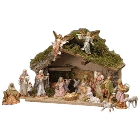 16 piece nativity with italian stable fitzula s gift shop