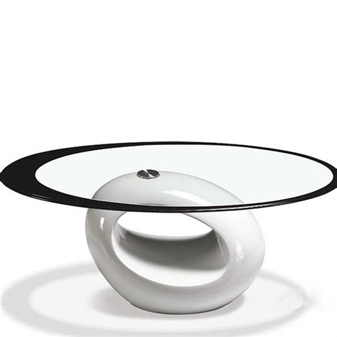 tempered glass minimalist modern oval coffee table modern