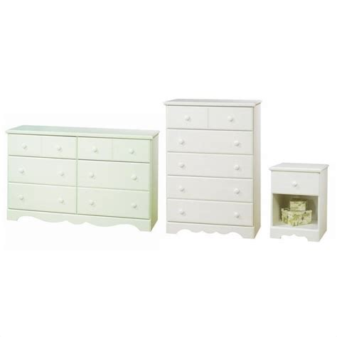 White Dresser And Nightstand Summer Dresser With Chest And Nightstand Set In White Wash 3210027 3pkg