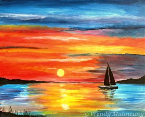 sailboat in sunset sailboat sunset paint party at debb s cuisine on queen