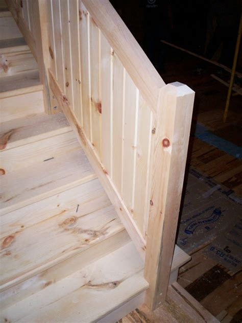 Solid Banister by Crafted Solid Pine Staircase Cowell