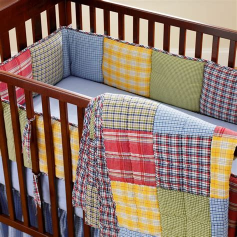 plaid crib bedding rushing life november 2010
