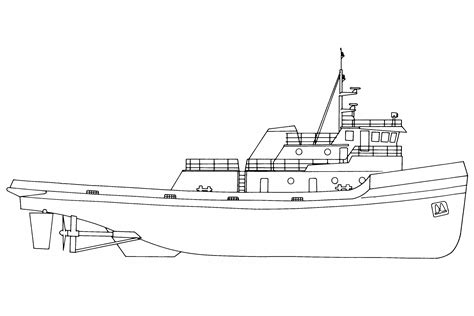 how to draw a cargo boat ship line drawing www pixshark images galleries