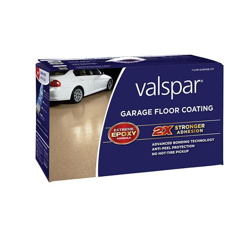 Garage Floor Sealer Lowes by Shop Valspar 2 Part Semi Gloss Garage Floor Epoxy Kit