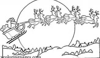 santa and reindeer coloring pages printable coloring home