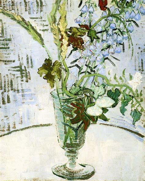 vaso di fiori gogh fiori in un vaso arte
