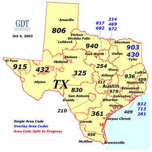 Area Code For Tx Area Code Map My